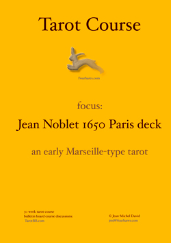 online tarot course focussing on the Noblet Marseille Tarot