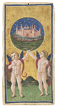 Bergamo Visconti-Sforza World Tarot Card