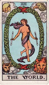 Waite-Smith Tarot World Card