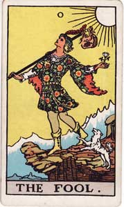 Waite-Smith Tarot Fool Card