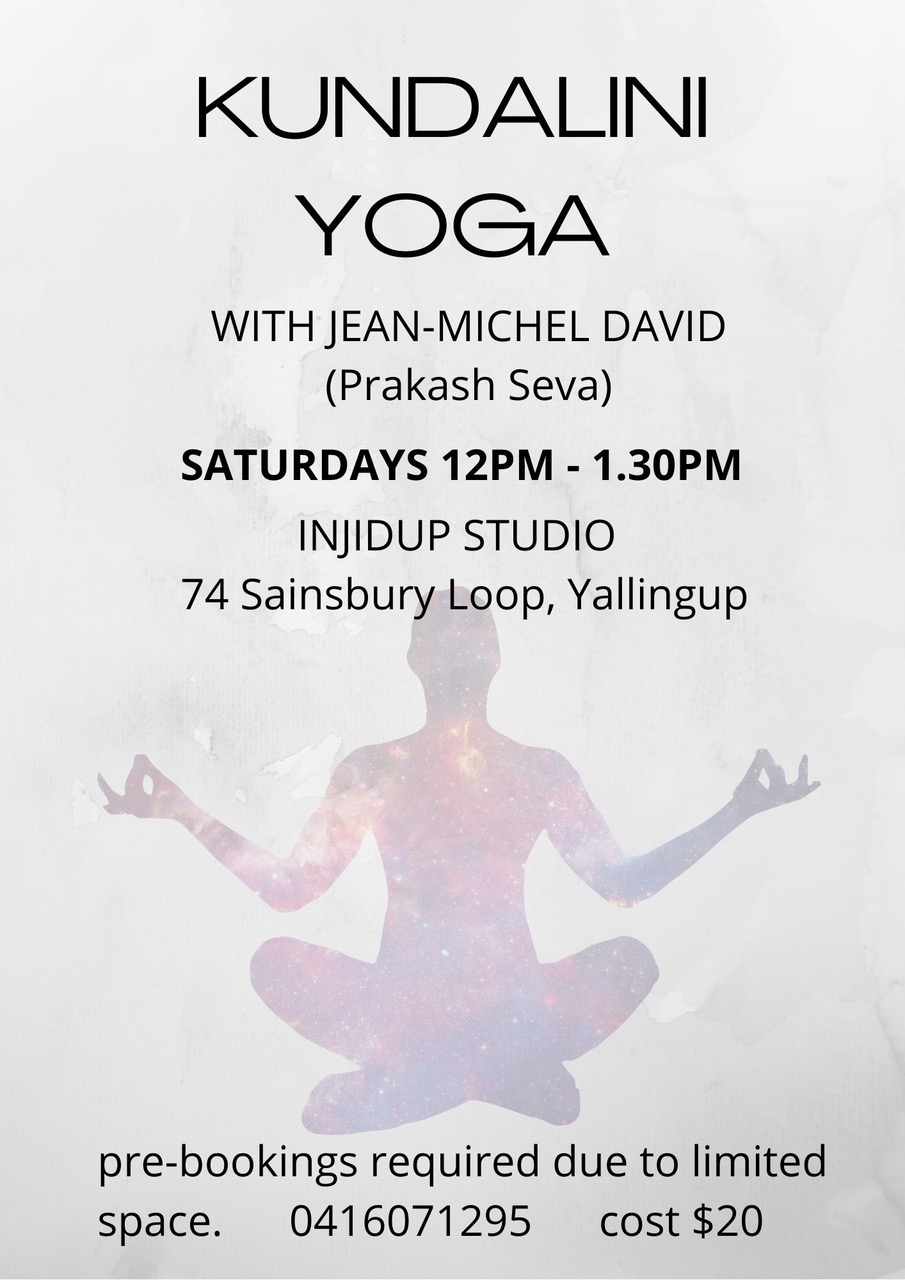 Kundalini Yoga flyer for Yallingup