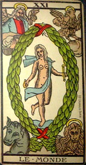 Arnoult tarot XXI the world