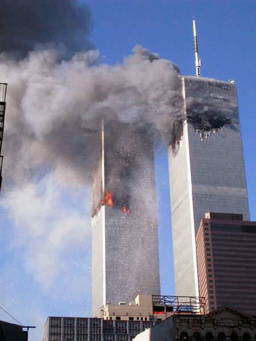 New York Twin Towers falling