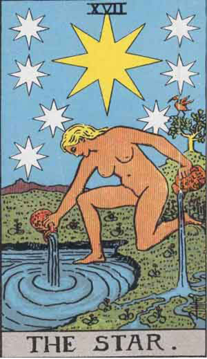 Waite Smith Tarot 1909 Star
