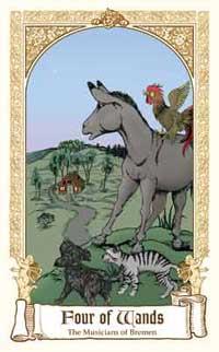 Fairytale Tarot - Four of Wands